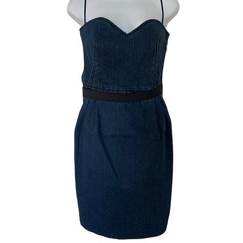 Lanvin x Acne Studios Denim Strapless Mini Dress
