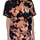 Thumbnail: Duke's Maui custom graphic surfboard t-shirt bleach dyed black and orange marble