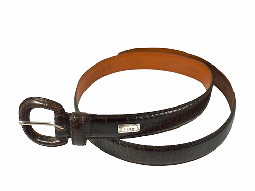 Vintage Lauren by Ralph Lauren genuine leather brown snakeskin belt