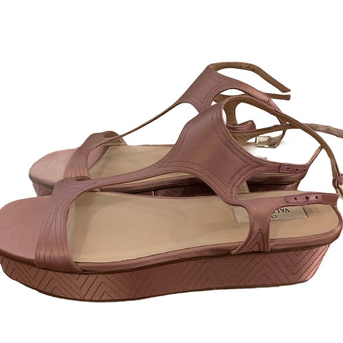 Valentino pink sandals platforms new with tags size 8
