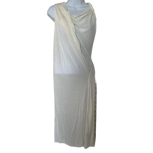 Rick Owens New with Tags white draped dress Abito Tunic in beige