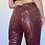 Thumbnail: Vintage snake print high waisted maroon and gold pants size 0