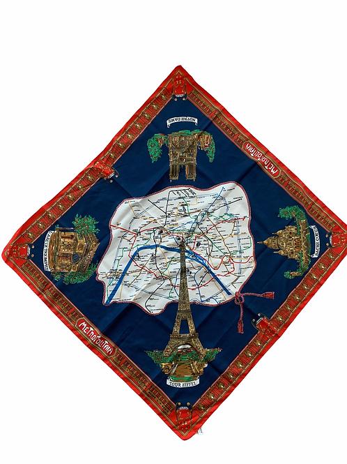 Large Paris Landmark Scarf Top or Headwrap