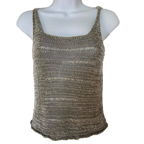 D. Exterior Gray Knit Tank Top Size Small