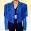 Thumbnail: Vintage royal blue genuine leather fringe western jacket