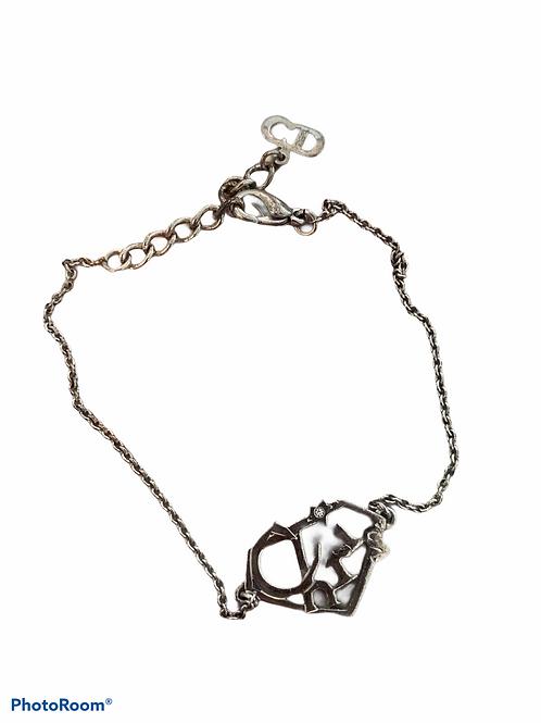 "Christian Dior vintage ""Chris"" Silver Diamond Bracelet"
