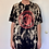 Thumbnail: Custom bleach dyed oversized asian inspired graphic t shirt