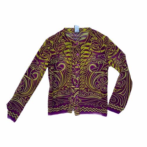 Jean Paul Gaultier Mesh Cropped Sweater Cardigan Size XS