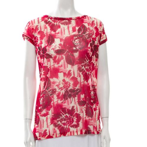 Jean Paul Gaultier mesh oversized floral shirt XS
