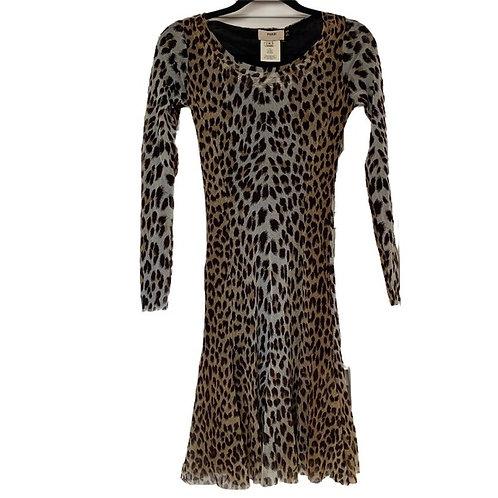 Fuzzi mesh cheetah print dress size S