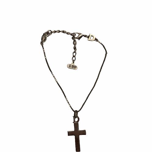 Christian Dior Vintage Silver Cross Bracelet