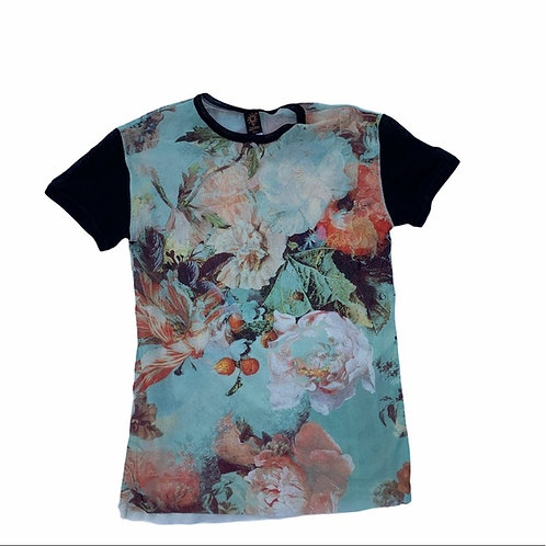 Jean Paul Gaultier Mesh Layered Floral Top Size XS
