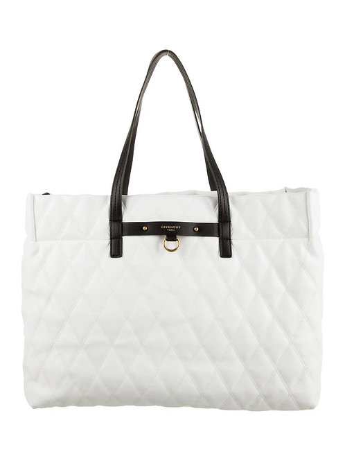GIVENCHY Duo Shopper East-West Losange Tote in White