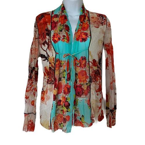 Jean Paul Gaultier Mesh Floral Jacket size XS