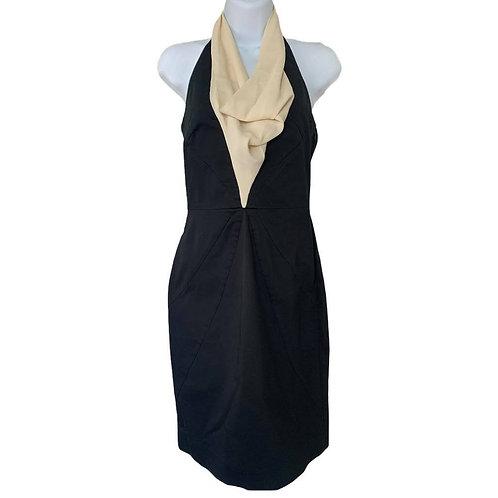 Moschino Black Dress with ruffle neck size 4
