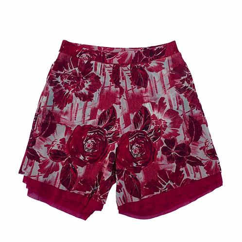 Jean Paul Gaultier Pink Floral Mesh High Waisted Bermuda Shortsze XSsize XS