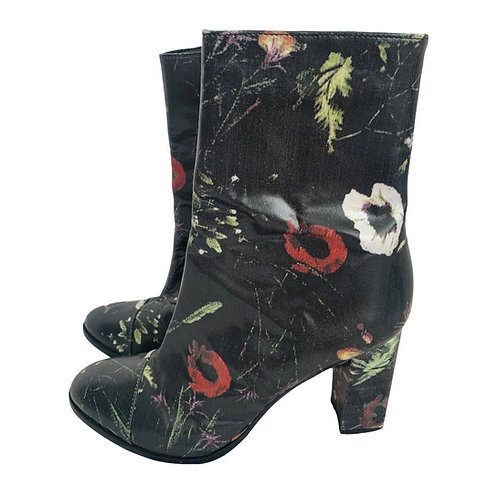 MATISSE Leather Floral Print Boots Size 9.5