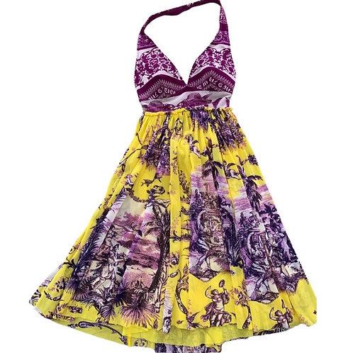 Jean Paul gaultier vintage soleil baby doll halter dress XS