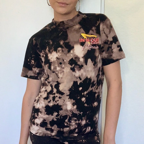 In N Out custom bleach dyed size small graphic t-shirt