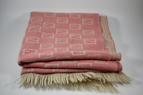 Fendi Zucca print 100% wool reversible scarf