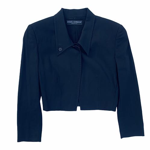 Dolce & Gabbana Black Cropped Blazer Size 0