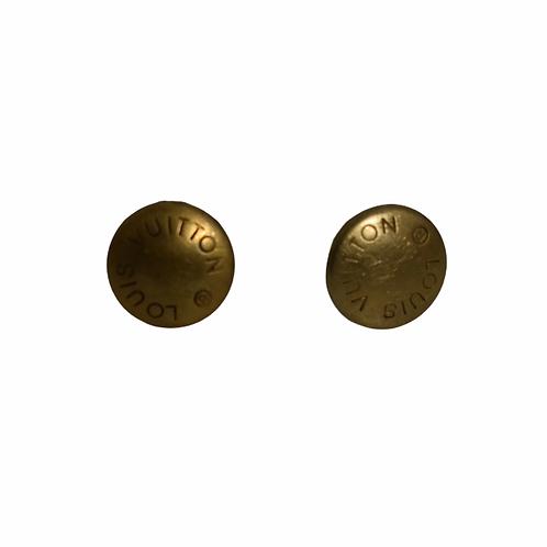 Louis Vuitton Custom Button Earrings