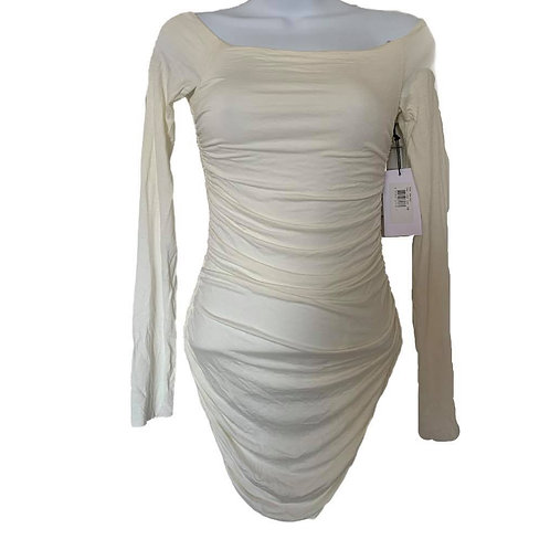 Bailey 44 white ruched draped top size XS new with tags