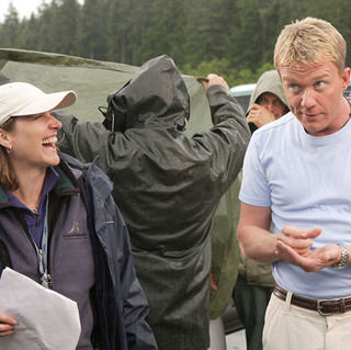 Alexandra with Anthony Michael Hall on Dead Zone.