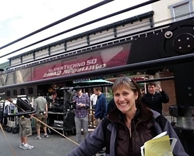 Alexandra standing in front of Cafe Diem on Eureka