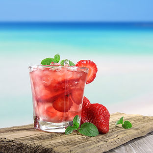 Strawberry cocktail on a beach.jpg