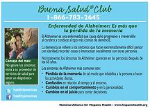 Infocard enfermedad de Alzheimer