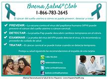 Infocard Cáncer de cuello uterino