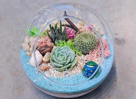 Oblique Spherical Glass Terrarium