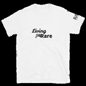 Living Rare white tee.png