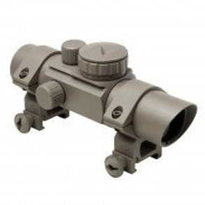 1X30 T-STYLE RED & GREEN DOT SIGHT /4 DIFFERENT RETICLES / WEAVER RINGS/ TAN
