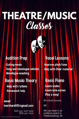 Copy of Theatre Acting Classes flyer tem