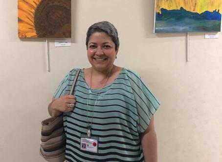 Simon Cancer Center Art Therapy Reception