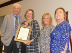 WOMEN'S ASSOCIATION FOR MORRISTOWN MEDICAL CENTER RECEIVES PROCLAMATION FROM TOWN OF MORRISTOWN
