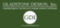 GDI large Logo & address  (White on gree