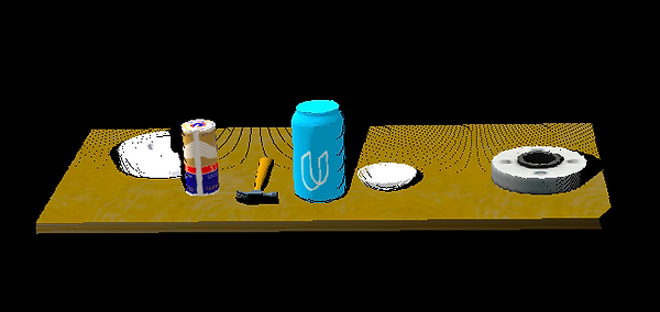 point-cloud image of a tabletop