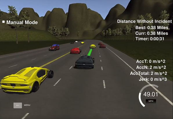 self-driving car planning a pah around other vehicles