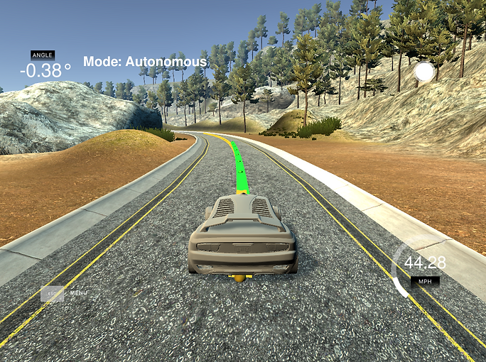 Self-driving car using a model predictive controller to navigate a track