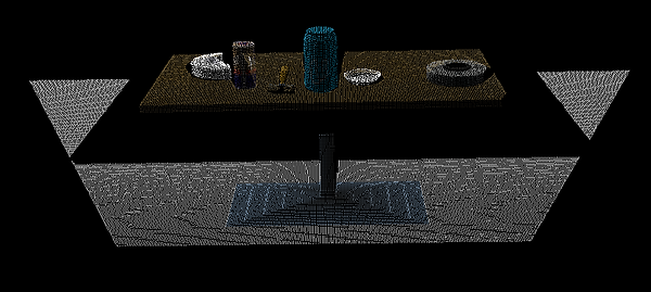 Point-cloud data after using a voxel grid filter
