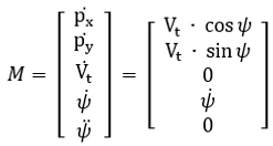 CTRV differential equations