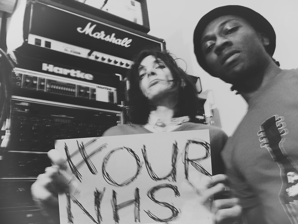 Mark Keds and Aaron Scars show support for the Save our NHS  campaign 2017