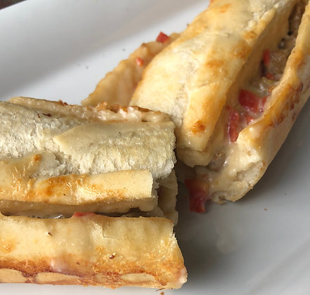 Sausage Rotel Stuffed French Bread