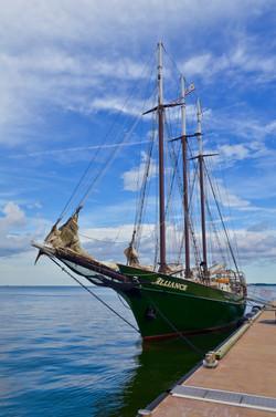 Tall ship on James River VA