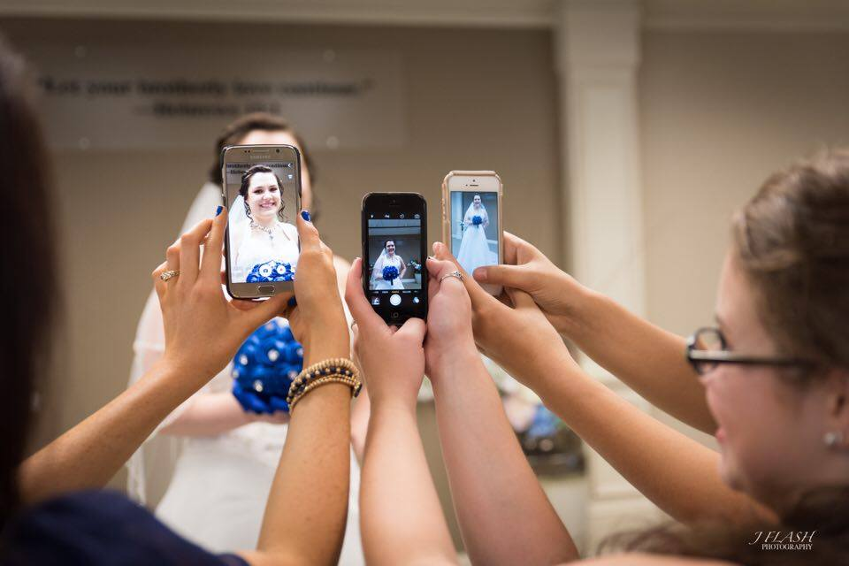 Cell Phone Bridal Party Fun