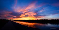 Missouri River at Sunset-