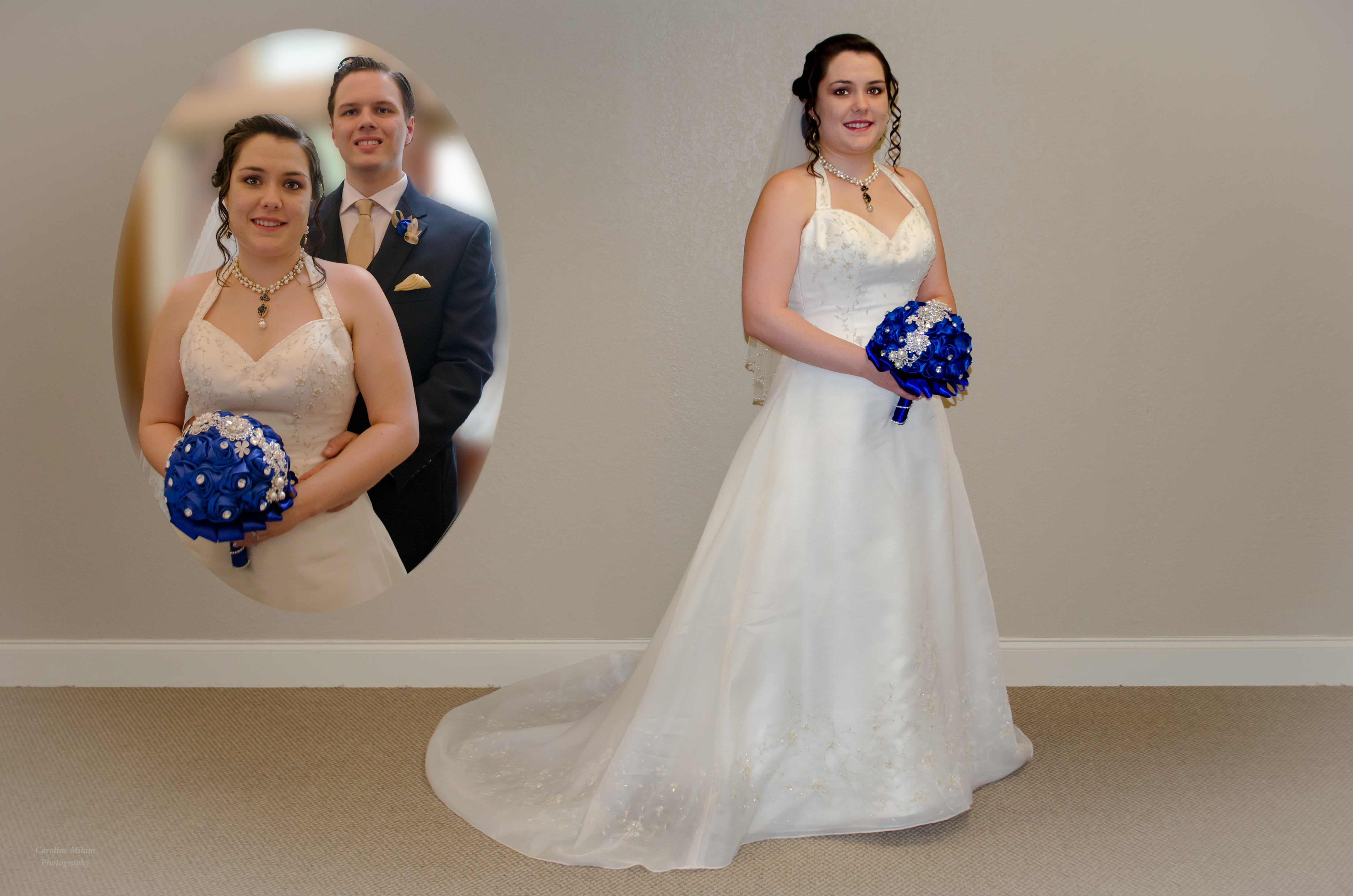 Bride  with Inset Image